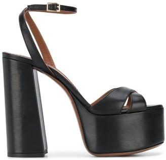 L'Autre Chose Leather Platform Sandals