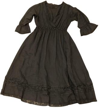 120% Lino Grey Linen Dress for Women