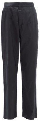 Marques Almeida Marques'almeida - High Rise Silk Trousers - Womens - Black