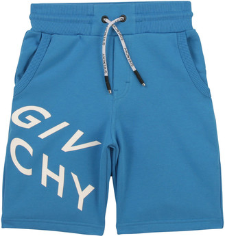 Givenchy Boy's Abstract Logo-Print Drawstring Shorts, Size 12-14