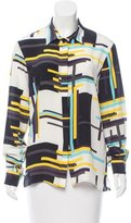 MSGM Printed Silk Blouse