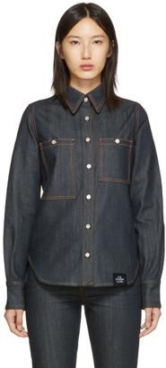 S.R. STUDIO. LA. CA. Indigo Unlimited Denim Oversized Button-Down Shirt