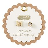 Mud Pie CHELSEA INITIAL AND PAVE EARRINGS - M