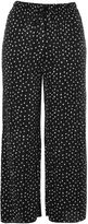Topshop Belted Spot Plisse Trousers