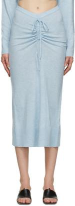 CHRISTOPHER ESBER Blue Ruched Drape Skirt