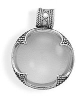 West Coast Jewelry 925 Sterling Silver Magnifying Glass with Oxidized Design Pendant