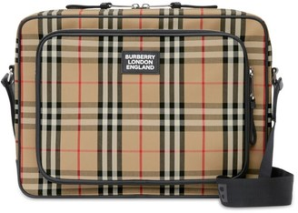 Burberry Cotton Vintage Check Messenger Bag