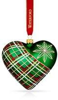 Waterford Nostalgic Plaid Heart Ornament