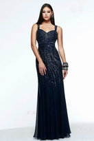 Faviana Sparkling Sweetheart Chiffon Dress Thick Shoulder and Back Straps S7380