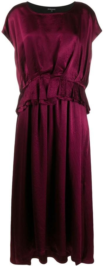Ann Demeulemeester ruffle short-sleeve dress