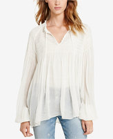 Denim & Supply Ralph Lauren Smocked Gauze Top