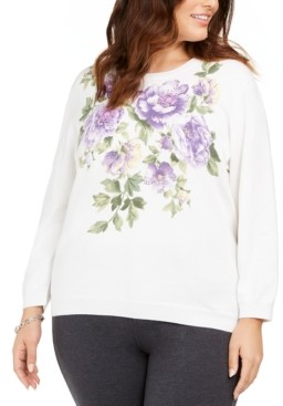 Alfred Dunner Plus Size Loire Valley Sweater