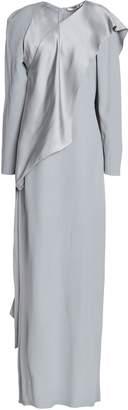 Chalayan Satin-paneled Crepe Maxi Dress