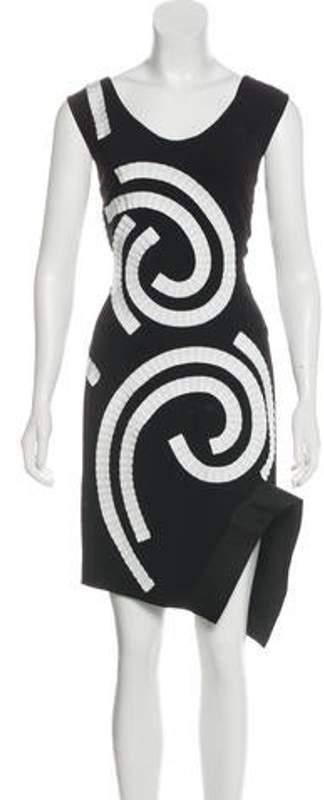 Stella McCartney Ruffle-Accented Sleeveless Dress Black Ruffle-Accented Sleeveless Dress