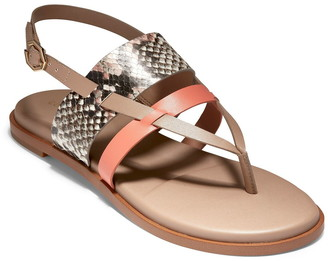 Cole Haan Finley Grand Snake Print Leather Sandal
