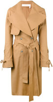 See by Chloe 'Cappotto' coat - women - Cotton/Linen/Flax/Elastodiene - 36