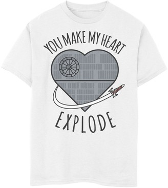 Star Wars Boys 8-20 Valentines You Make My Heart Explode Tee