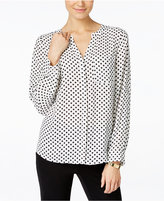 INC International Concepts Polka-Dot Blouse, Created for Macy's