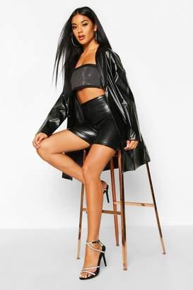 boohoo Oversized PU Leather Look Boyfriend Jacket