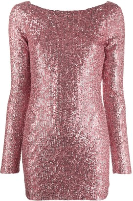 In The Mood For Love Moss sequinned open-back dress