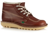 Kickers Tan Leather Contrast Stitched Chukka Boots
