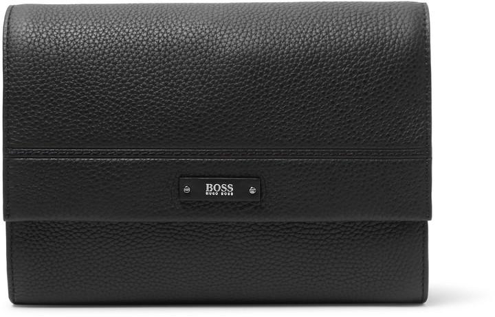 HUGO BOSS Full-Grain Leather Wash Bag
