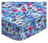 SheetWorld Fitted Square Playard Sheet (Fits Joovy) - Exotic Fish Blue - Made In USA - 37.5 inches x 37.5 inches (95.25 cm x 95.25 cm)