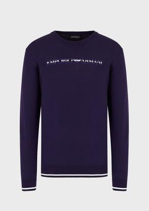 Emporio Armani Sweater With Embroidered Logo