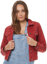 Wrangler Trucker Jacket Red Denim Red