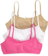 Maidenform Girls' 3-Pack Crop Bras