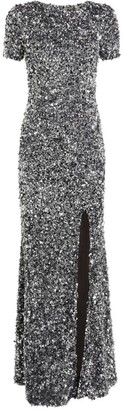 Rachel Gilbert Sequin-Embellished Nixie Gown