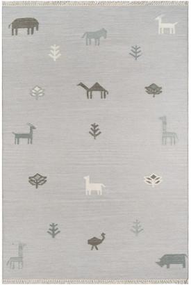 Momeni Erin Gates by Thompson Porter Gray Hand Woven Wool Area Rug 7'6