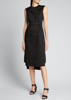 Prada Sateen Sleeveless Suit Dress