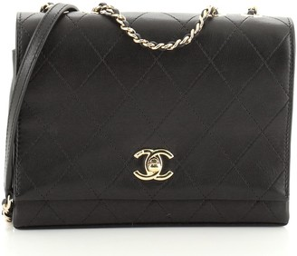 Chanel 3 Compartment Flap Bag Quilted Calfskin Small