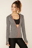 Forever 21 FOREVER 21+ Marled Seamless Knit Hoodie