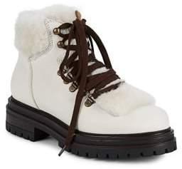 Kurt Geiger London Faux Fur-Trim Hiking Boots