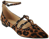 Marc Fisher As Is Pointed Toe Flats with Ankle Strap - Aura