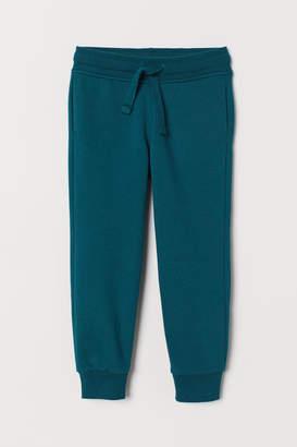 H&M Cotton-blend Joggers - Turquoise