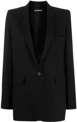 Ann Demeulemeester Black Blazer Jacket