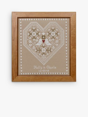 Historical Sampler Company Love Bird Wedding Sampler Cross Stitch Kit