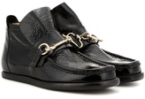 Acne Studios Kerin Embellished Patent Leather Ankle Boots