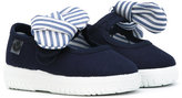 Victoria Kids - striped bow sneakers - kids - Canvas/rubber - 18