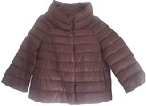 Herno Purple Leather Jacket for Women
