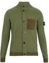 Stone Island Contrast-pocket wool-blend cardigan