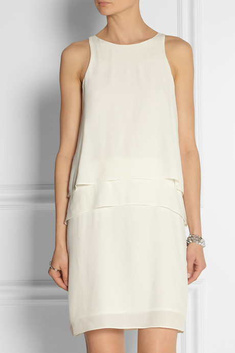 Tibi Tiered crepe dress