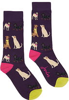Joules Brilliant Bamboo Dog Ankle Socks, Multi