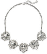Charter Club Silver-Tone Cubic Zirconia Cluster Statement Necklace, Created for Macy's