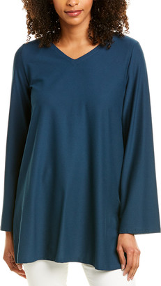 Eileen Fisher Stretch Crepe V-Neck Tunic