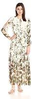 Adrianna Papell Women's Print Flat Chiffon Maxi Dress