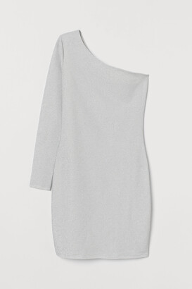 H&M Glittery one-shoulder dress
